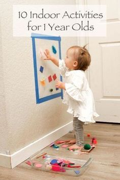Indoor Activities For One Year Olds Great Activity To Encourage Standing Reaching Activities For One Year Olds Infant Activities Activities For 1 Year Olds