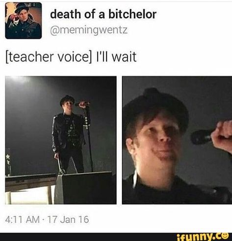 For everything Fall Out Boy check out Iomoio Emo Band Memes, Emo Bands, Music Bands, Patrick Stump, Fall Out Boy Memes, Soul Punk, This Is A Book, Music Memes, Panic! At The Disco