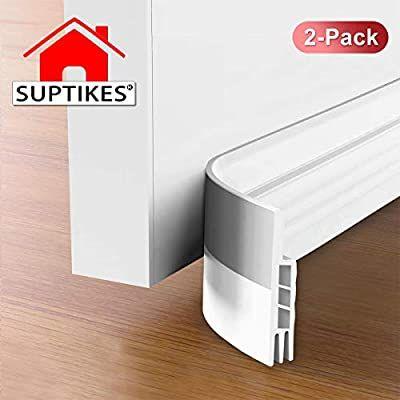 Suptikes 2 Pack Door Draft Stopper Door Sweep For Exterior Interior Doors Door Bottom Seal Dust And Noise I In 2020 Door Sweep Door Draught Stopper Noise Insulation