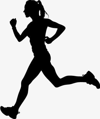 Running Silhouette Figures Vector Material Woman Run Movement Png Transparent Clipart Image And Psd File For Free Download Running Silhouette Female Runner Silhouette