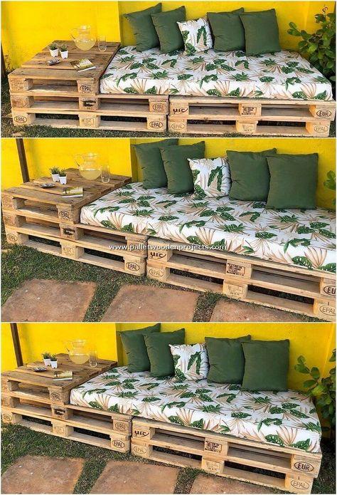 DIY backyard pallet projects, # DIY # Home & Garden # pallets . - DIY pallet projects in the backyard, # DIY - Pallet Garden Furniture, Diy Furniture Projects, Furniture Design, Furniture Storage, Easy Projects, Pallets Garden, Furniture Makeover, Pallette Furniture, Repurposed Furniture