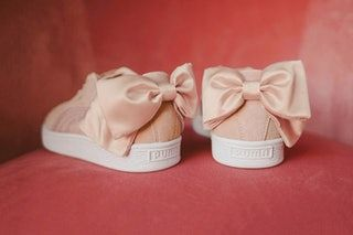 Rose gold sneakers, Puma bow sneakers