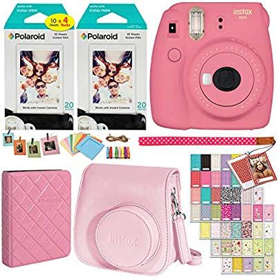 Fujifilm Instax Mini 9 Instant Camera Flamingo Pink 2 X Twin Pack Instant Film 40 Sheets Camera Case Fujifilm Instax Mini Instax Mini Instax