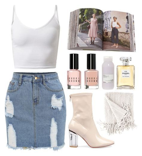 """☁️☁️☁️"" by g-igii ❤ liked on Polyvore featuring Penguin Group, Bobbi Brown Cosmetics, Davines, Chanel and BobbiBrown"