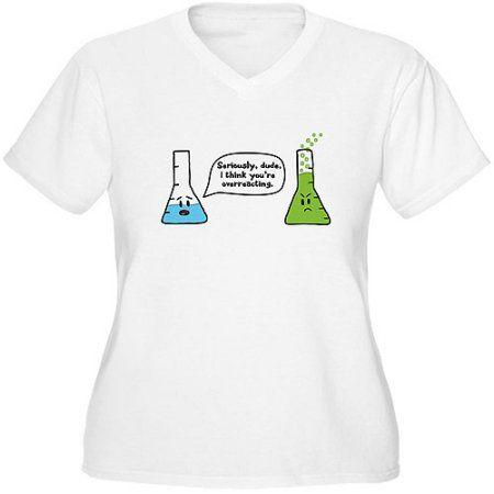 c4bdcf3dd6 CafePress Women s Plus-Size Science Humor Graphic T-shirt