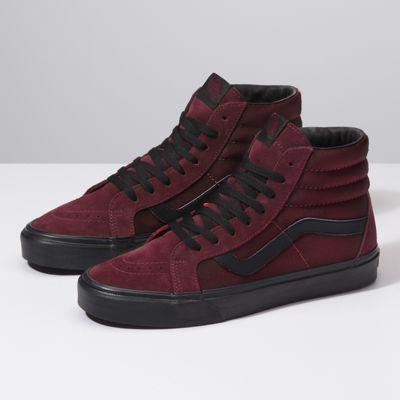 Maroon shoes, Mens vans shoes