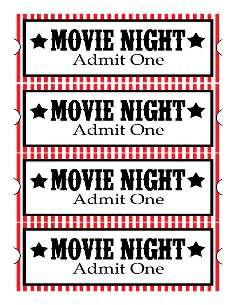 Best 25+ Movie ticket template ideas on Pinterest Movie party - admit one ticket template