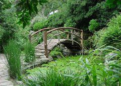 Bridge At Isamu Taniguchi Japanese Garden At Zilker Park Botanical Gardens