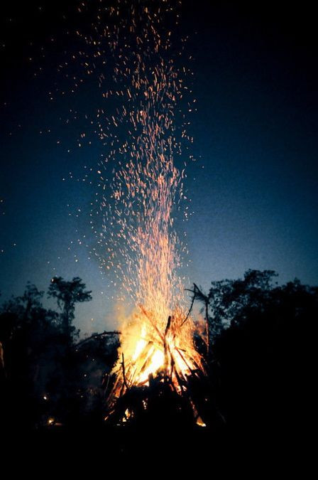 Summer fun, bonfire evenings