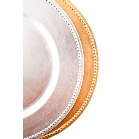 Gold Charger Plates BULK (24 Plates = $1.99/Plate) [402070 F119-1 Gold Charger Plate] : Wholesale Wedding Supplies, Discount Wedding Favors, Party Favors, and Bulk Event Supplies