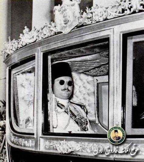 الملك فاروق الأول في طريقه إلى البرلمان Old Egypt Egyptian History Egyptian