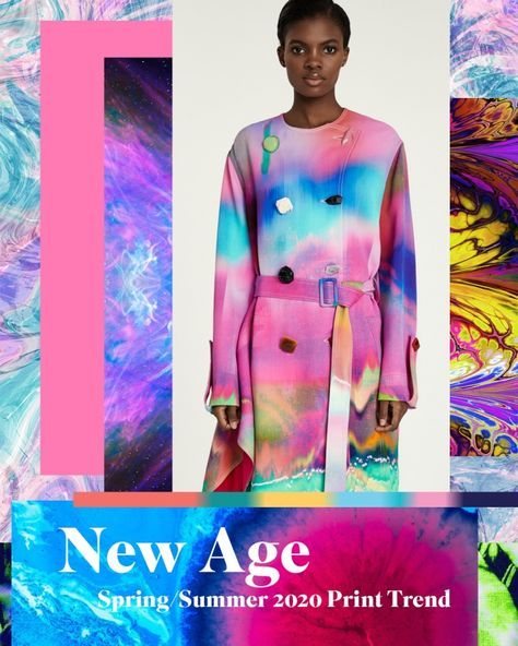 Vibrant tie dyes merge creating a colourful kaleidoscope of patterns for Spring/Summer 2020 Explore the trend story here COLOUR EFFECTS / MODERN BATIK /
