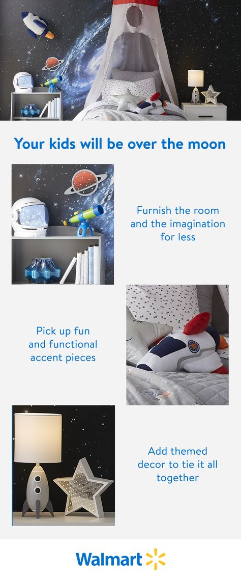Find fun, imaginative furnishings at a price you want to pay, only at Walmart. Our kids' furniture is high-quality, with a timeless charm. Perfect for your out-of-this-world kids.