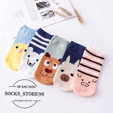 socks VỚ NGẮN THÚ MÀU GIÁ LẺ 15.OOO...