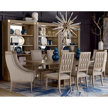 Edinburg 10 Piece Dining Set Formal Dining Room Sets Contemporary Dining Room Sets Rectangular Dining Table