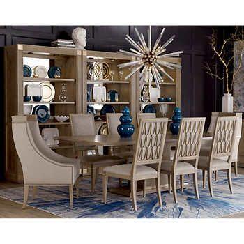 Edinburg 10 Piece Dining Set Formal Dining Room Sets Contemporary Dining Room Sets Rectangular Dining Table