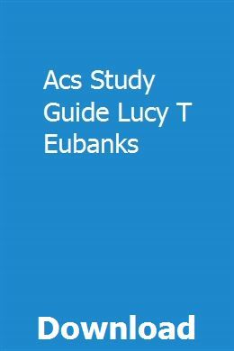 Acs Study Guide Lucy T Eubanks Repair Manuals Chilton Repair Manual Study Guide