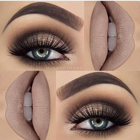 Hottest Eye Makeup Looks Makeup Trends Gorgeous! Gold and Brown Glittery Style with False Lashes. 10 Hottest Eye Makeup Looks Makeup TrendsGorgeous! Gold and Brown Glittery Style with False Lashes. 10 Hottest Eye Makeup Looks Makeup Trends Smoky Eye Makeup, Eye Makeup Tips, Makeup Trends, Makeup Tools, Eyeshadow Makeup, Makeup Brushes, Makeup Ideas, Makeup Tutorials, Makeup Hacks