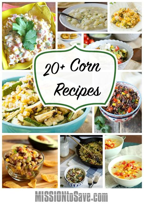 While my fave way to eat corn is right on the cob, here is a wonderful list of 20+ Corn Recipes. Rediscover this fave vegetable in a new way.