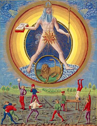 Alchemy:  The Sun. De Sphaera   Biblioteca Estense Universitaria (Modena, Italy), 15th century.  An #Alchemy artwork.