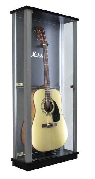 Locking Glass Guitar Display Case W Led S Guitar Display Case Guitar Display Display Case