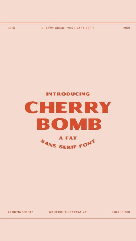 NEW! Cherry Bomb Font