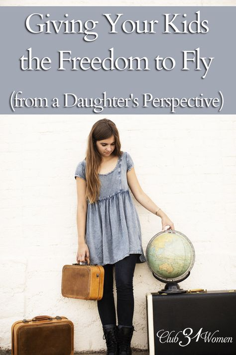 How do you let your kids go? What is your response to a young son or daughter who wants to do something big? It's not easy, but give them freedom to fly!