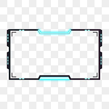 Cyberpunk Neon Blue Facecam Overlay Isolated On Transparent Background Panel Live Display Png And Vector With Transparent Background For Free Download In 2021 Cyberpunk Overlays Transparent Background