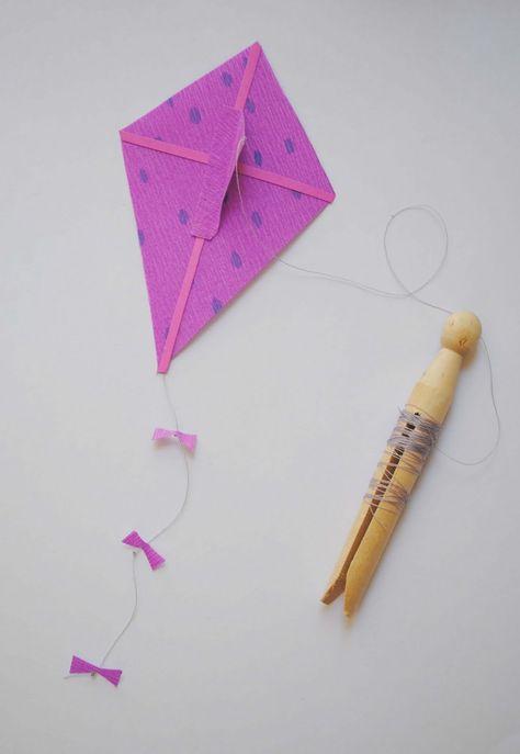 How To Make a Miniature Kite...By:zakka life