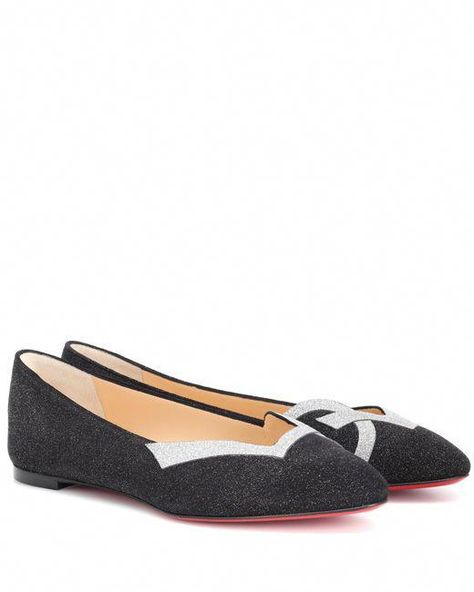 46ed06a3691 Christian Louboutin - Black Love 2018 Suede Ballet Flats - Lyst   ChristianLouboutin