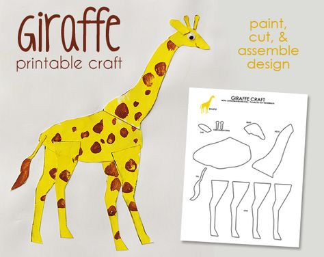 Printable Giraffe Craft Giraffe Crafts Animal Crafts Preschool Kindergarten Crafts