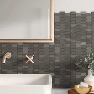Mulia Tile Honeycomb Honed 1 X 2 Marble Mosaic Tile Color London Ash In 2020 With Images Colorful Bathroom Tile Marble Mosaic Marble Mosaic Tiles