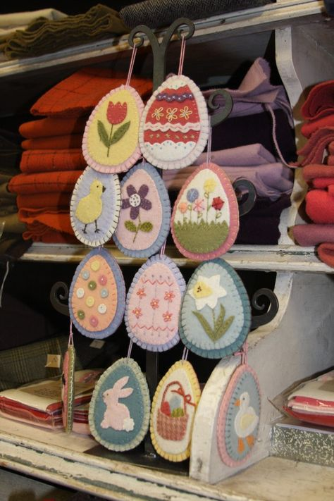Cute felt Easter eggs