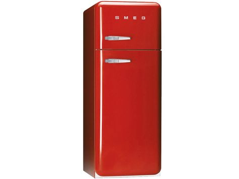 Smeg Kühlschrank : Smeg fab30r7 stand kühl gefrier kombination rot remember küche