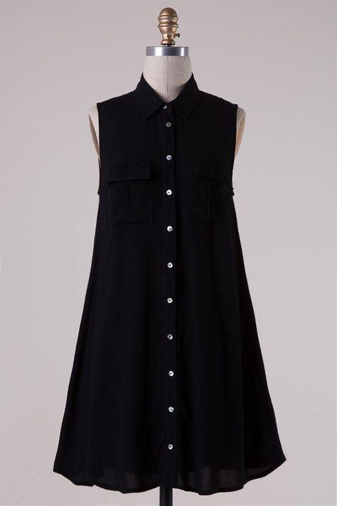 8372 - Button up shirt dress
