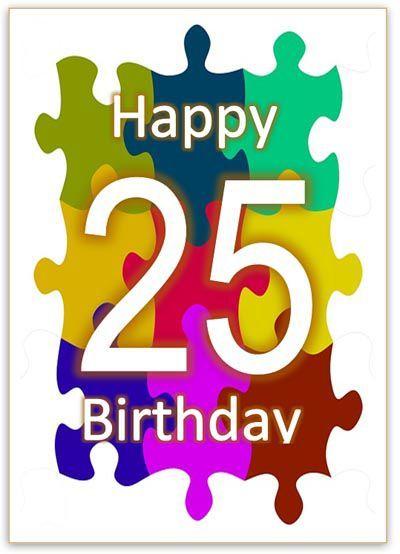 25 Geburtstag Karte Herzlichen Gluckwunsch Geburtstagsspruche