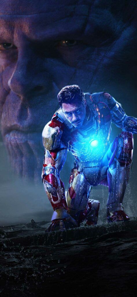 Wallpaper Iphone X Iron Man And Thanos In Avengers Infinity War Aq Hd Avengers Infinity War Infinity War Avengers Pictures Avengers infinity war iphone wallpaper