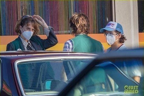 Stranger Things Robin, Steve, Dustin, Season 4, Behind the Scenes, on the Set
