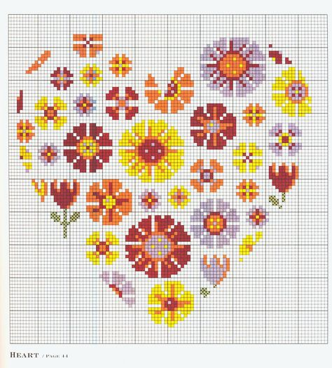 Bothy Threads Punto Croce Kit-CUORE BOUQUET