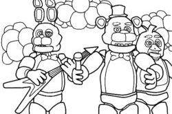 Dibujos Para Colorear De 5 Noches Con Freddy Dibujos