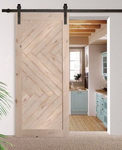 Love This Herringbone Pattern Barn Door Barn Door Designs Interior Barn Doors Modern Barn Door