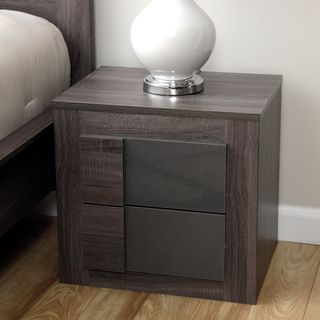Porch /& Den Wicker Park Concord Dark Grey Oak Nightstand
