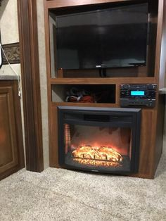 Greystone 26 Curved Electric Fireplace With Logs Recessed Mount
