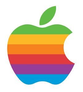 retro Apple logo