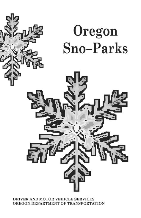 Oregon sno-parks, by Oregon Driver and Motor Vehicle Services