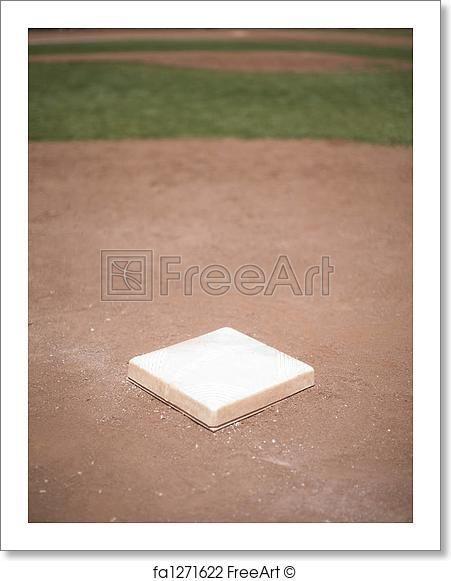 Free Art Print Of Baseball Base Free Art Prints Art Prints Baseball Bases
