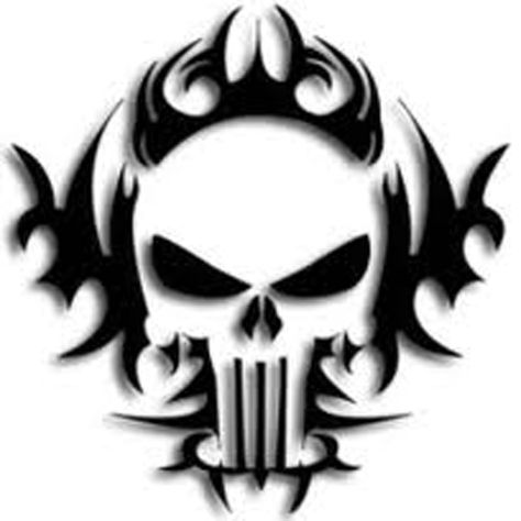 Tribal Punisher Desenho Caveira Tatuagem De Caveira Desenho