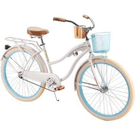 "Huffy 26"" Nel Lusso Women/'s Classic Cruiser Bike w// Perfect Fit Frame Light Blue"