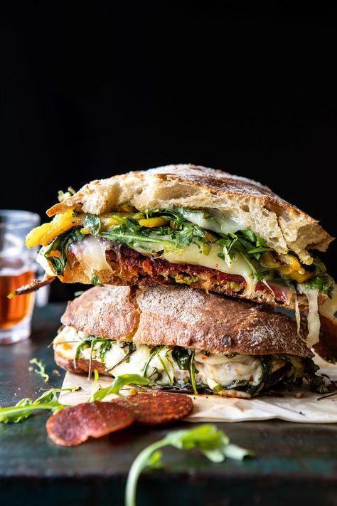 Party Size Italian Melt | halfbakedharvest.com #grilledcheese #easyrecipes #gameday