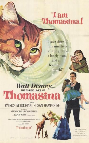 The Three Lives Of Thomasina 11x17 Movie Poster 1964 Disney Movie Posters Disney Movies Disney Films